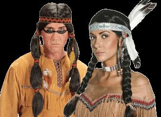 Indianen Pruiken
