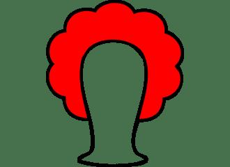 Rode Krullen Pruiken