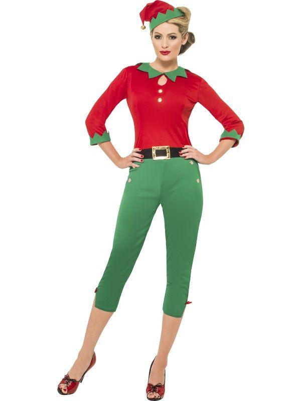 50s Santas Assistente Vrouw Kostuum