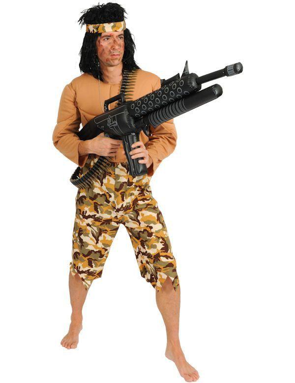Rambo Superheld Man Kostuum