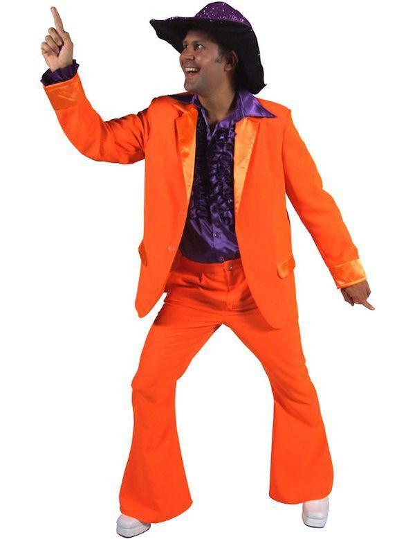 Mannen Jaren 70 Oranje Man Kostuum