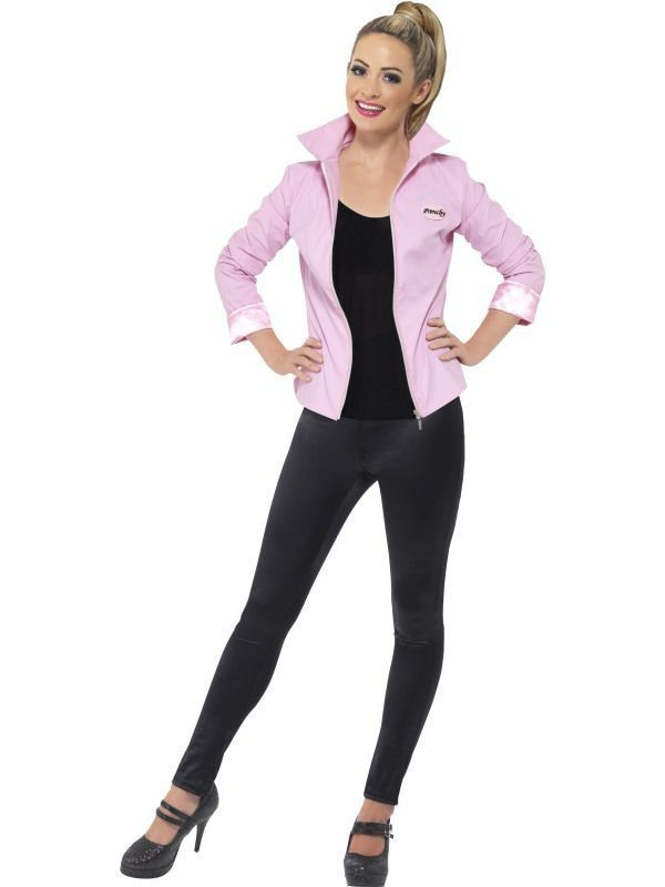 Luxe Pink Ladies Uit Grease Jas Vrouw Kostuum