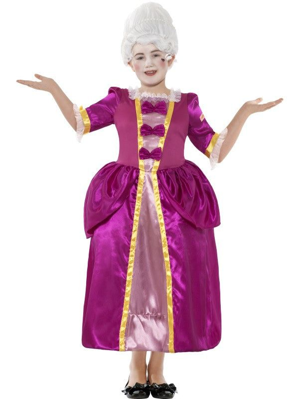 Horrible Historisch Hofdame Meisje Kostuum