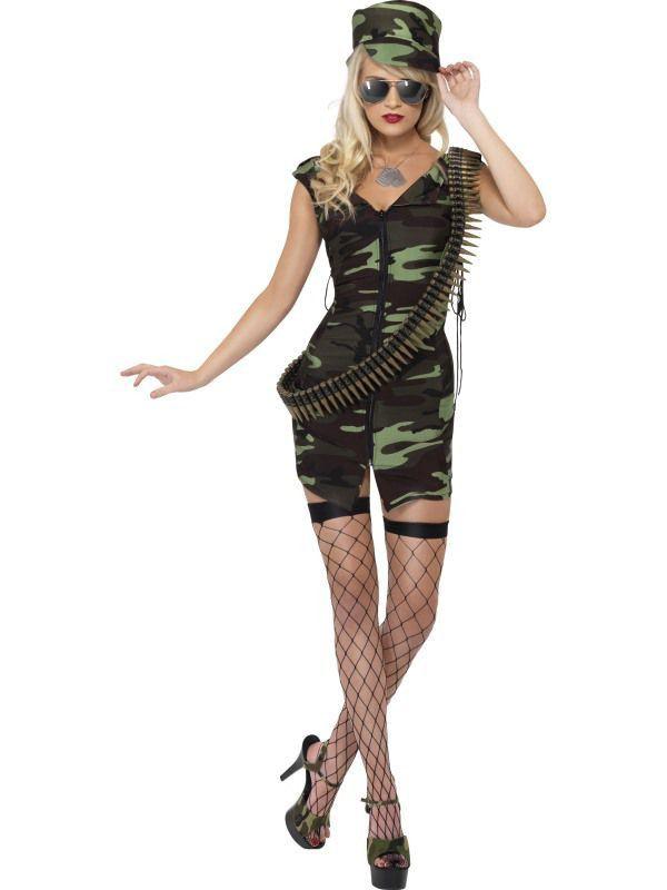 Zeer Sexy Landmacht Leger Dame Vrouw Kostuum