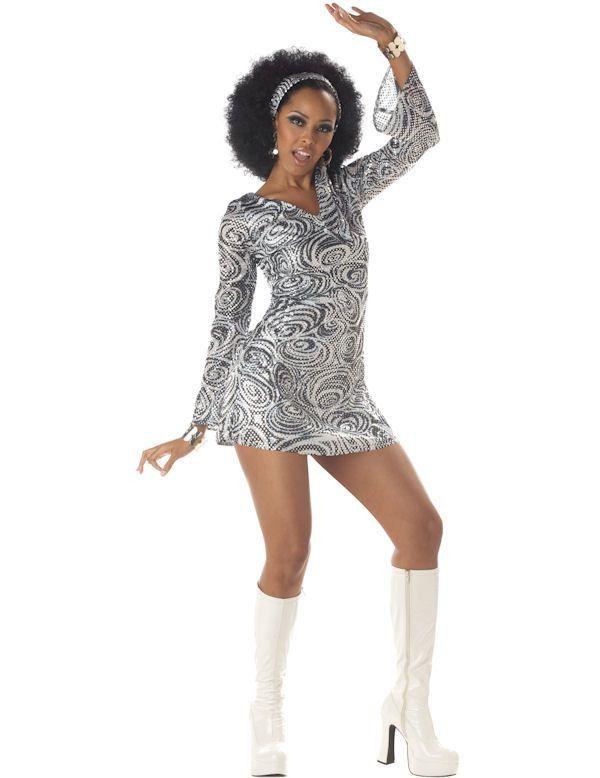 Disco Diva Sexy Jaren 70 Vrouw Kostuum