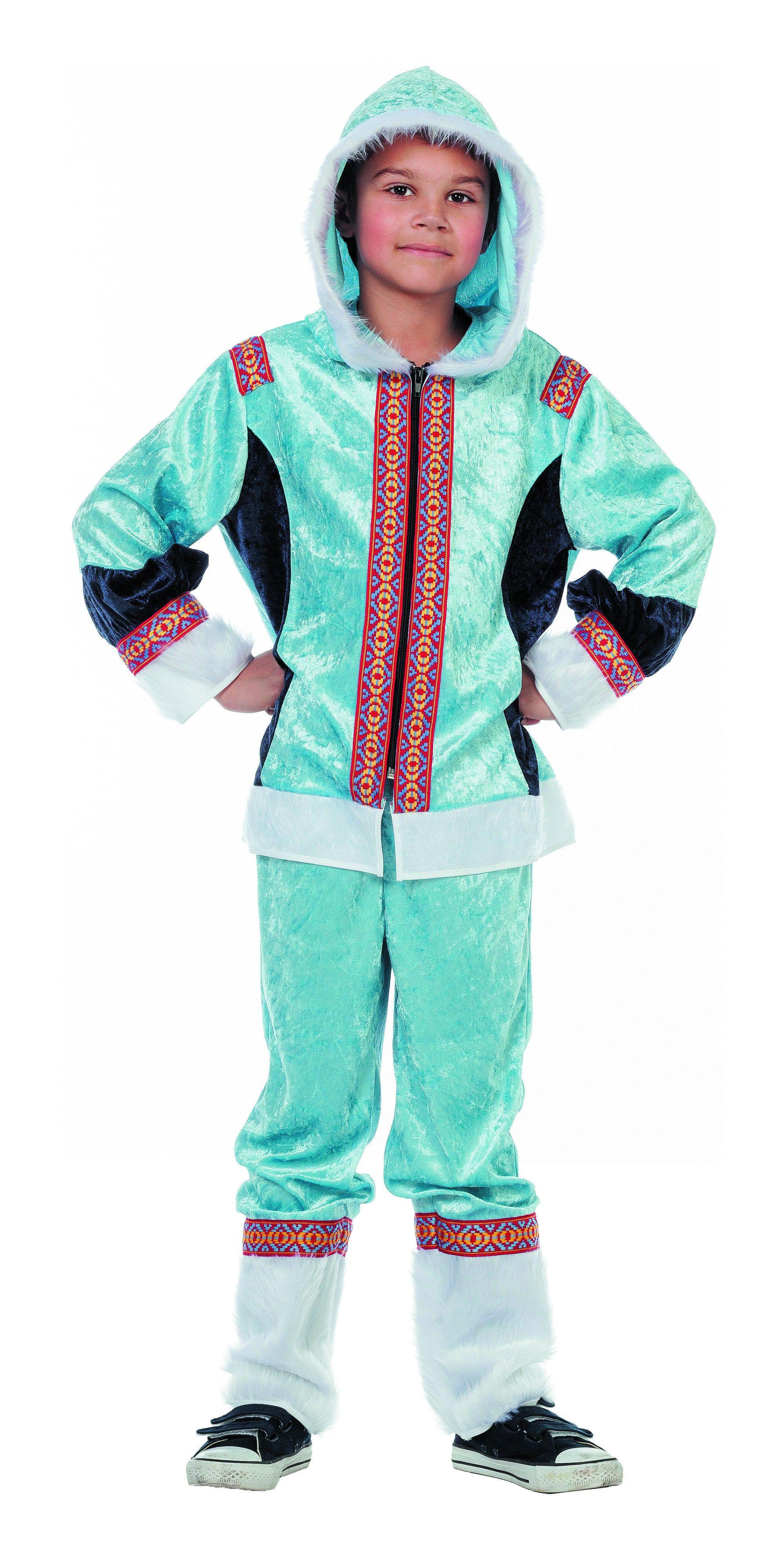 Polar Eskimo Blauw Jongen Kostuum