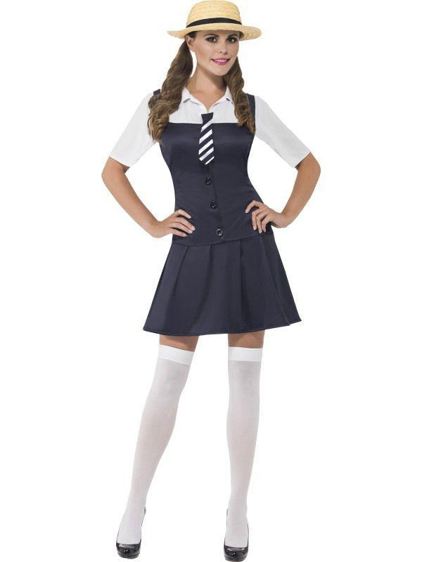 Schoolmeisje Keurig Vrouw Kostuum