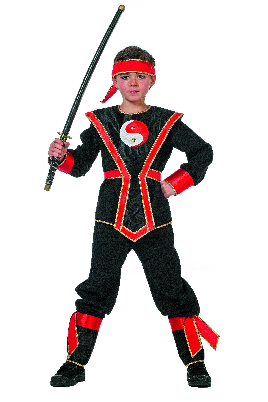 Ying Yang Ninja Rood Jongen Kostuum