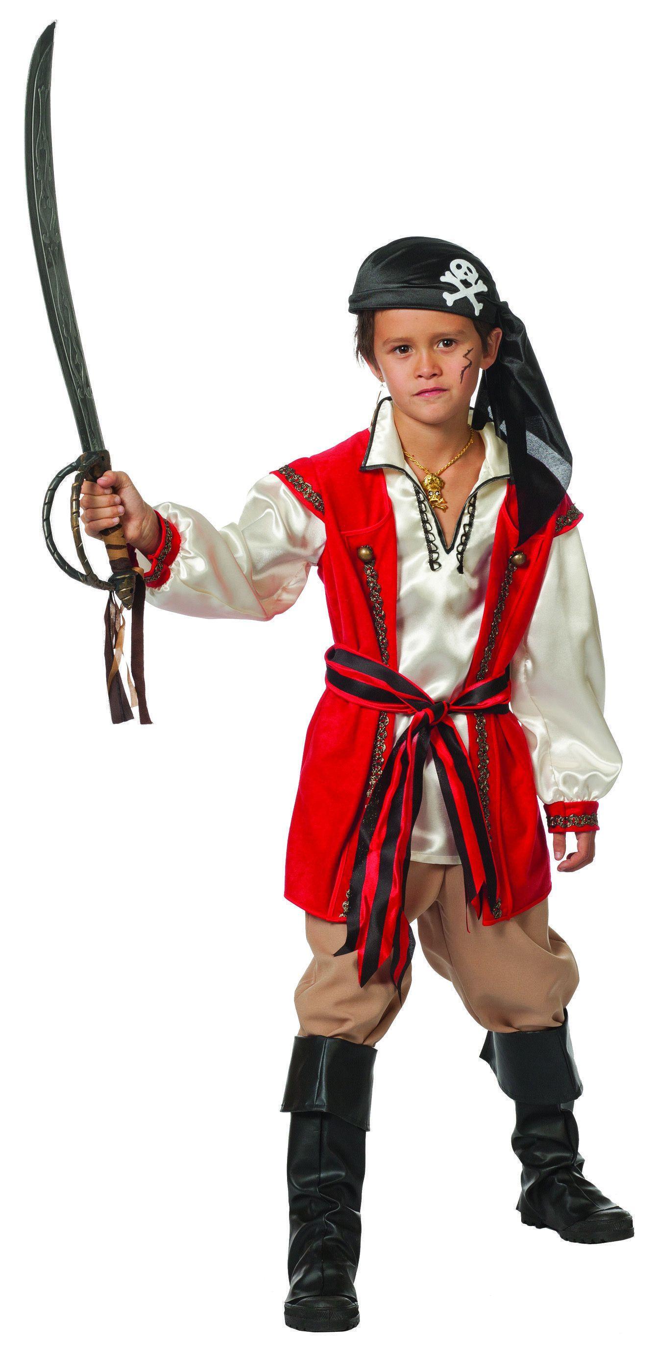 Sardo De Piraat Red Beard (Jongen) Kostuum