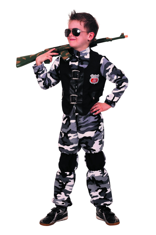 Combat Zone Overall Swat Jongen Kostuum