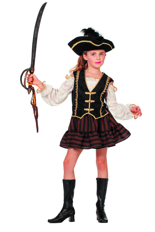 La Buckaniere Bruine Piraat (Meisje) Kostuum