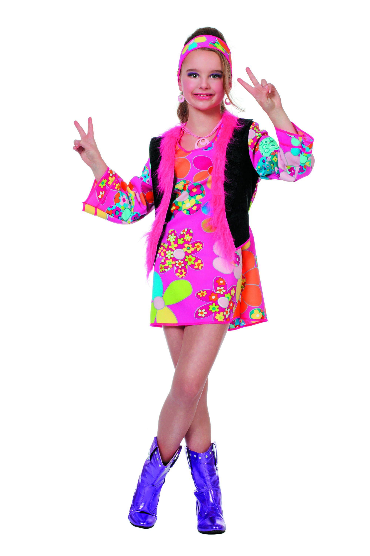 Hippy Woodstock (Meisje) Miss Sunshine Kostuum