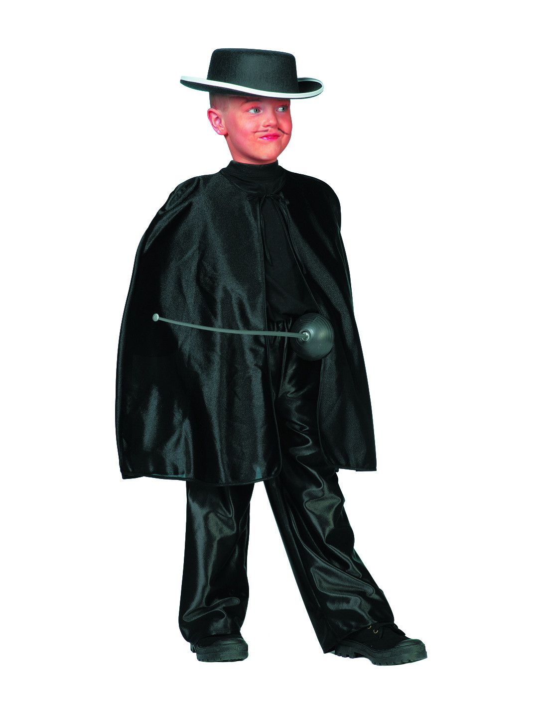 Zorro Zwarte Omhang ( Kort)