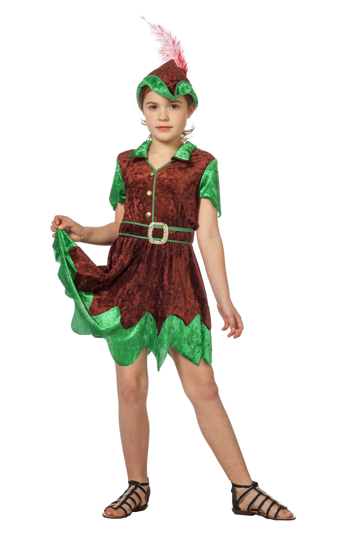 Robin Meisje Hoed Uit Het Woud Kostuum