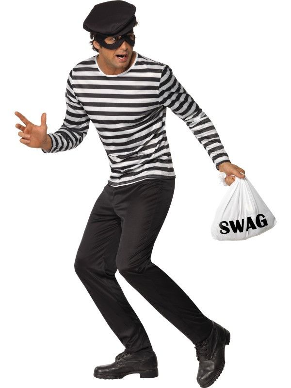 Bankrovers Kostuum Man Kostuum