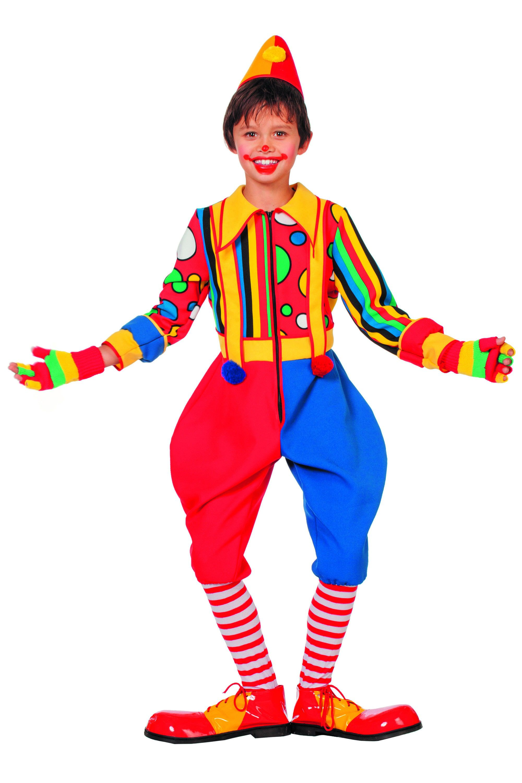 Multicollori Clown Bubbles (Jongen) Kostuum