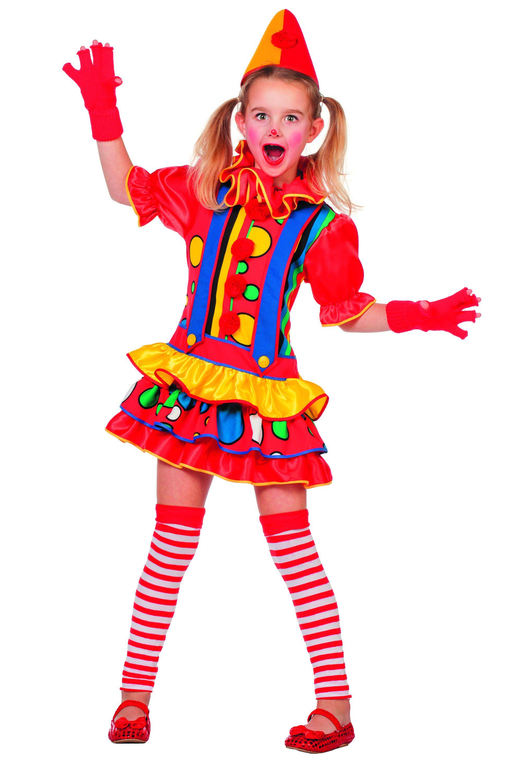 Multicollori Clown Bubbles (Meisje) Kostuum