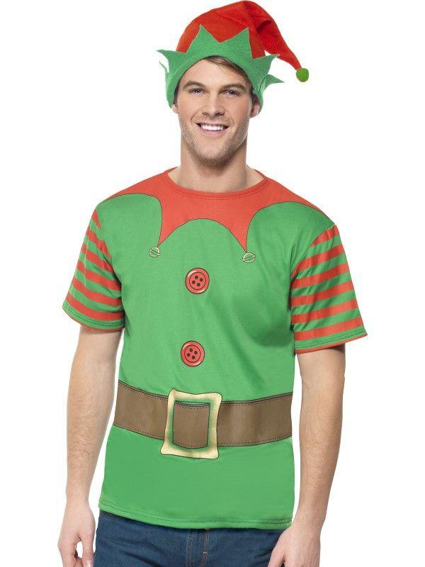 Elf Verkleed Set Man Kostuum
