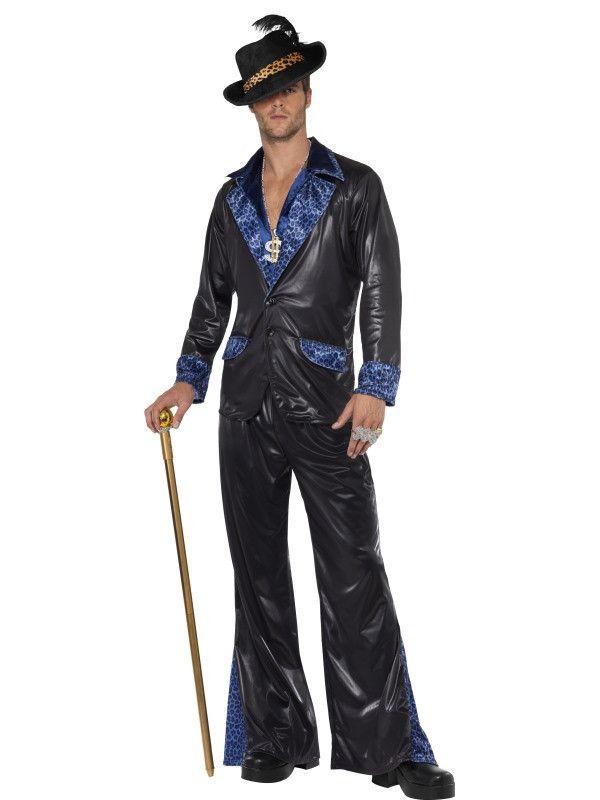 Pimp Daddy Disco Gentleman Kostuum