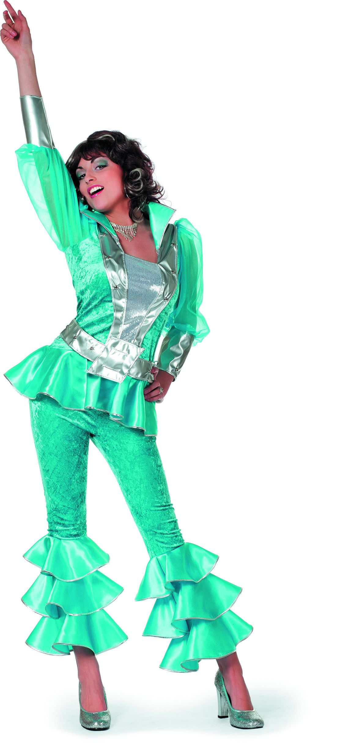 Zweedse Mamma Mia Luxe Aqua Vrouw Kostuum