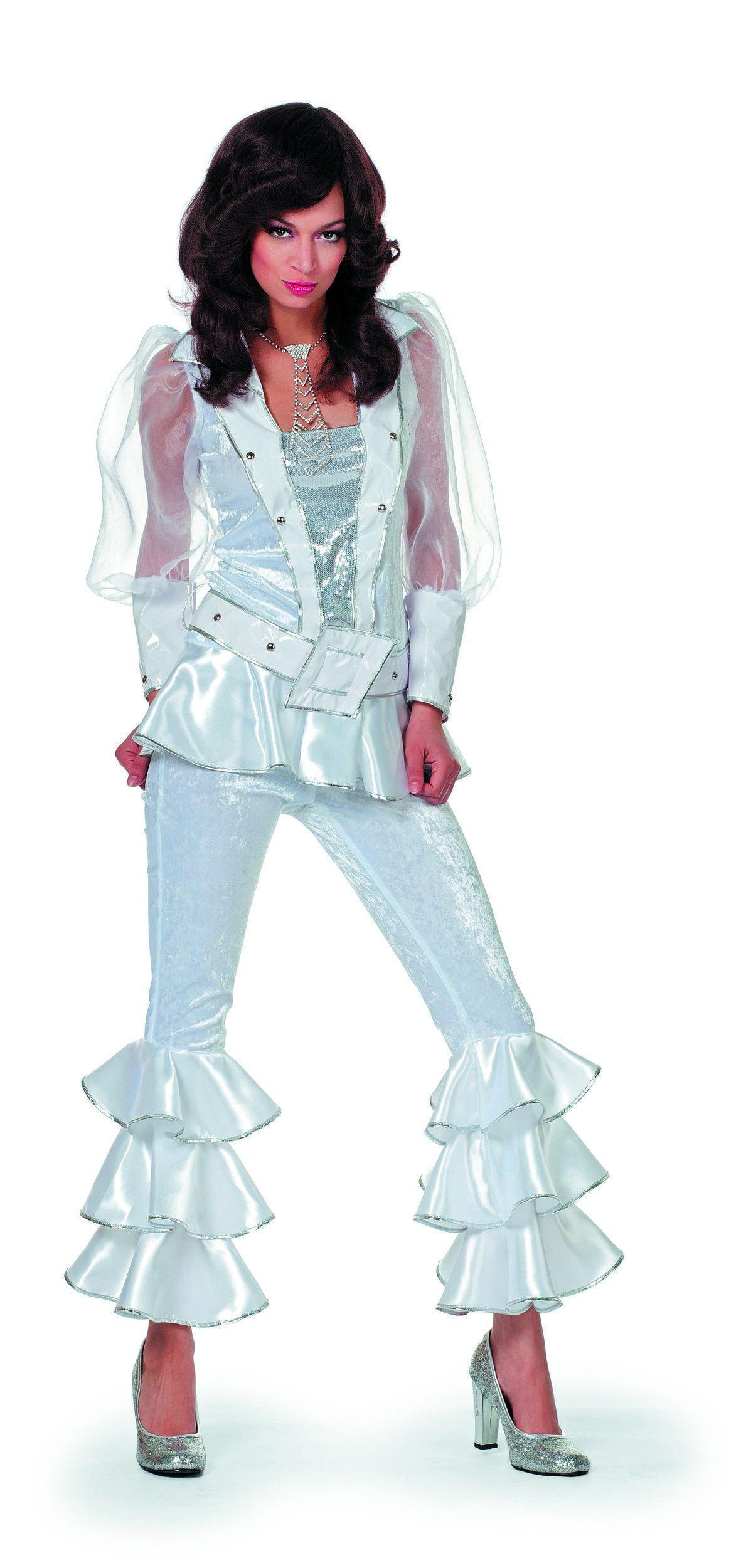 Zweedse Mamma Mia Luxe Wit Vrouw Kostuum