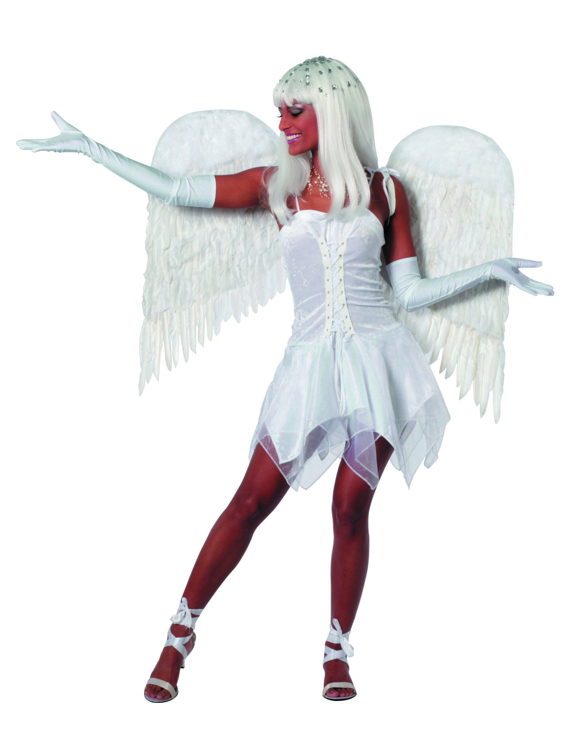 Witte Engel / Duivel Vrouw Kostuum