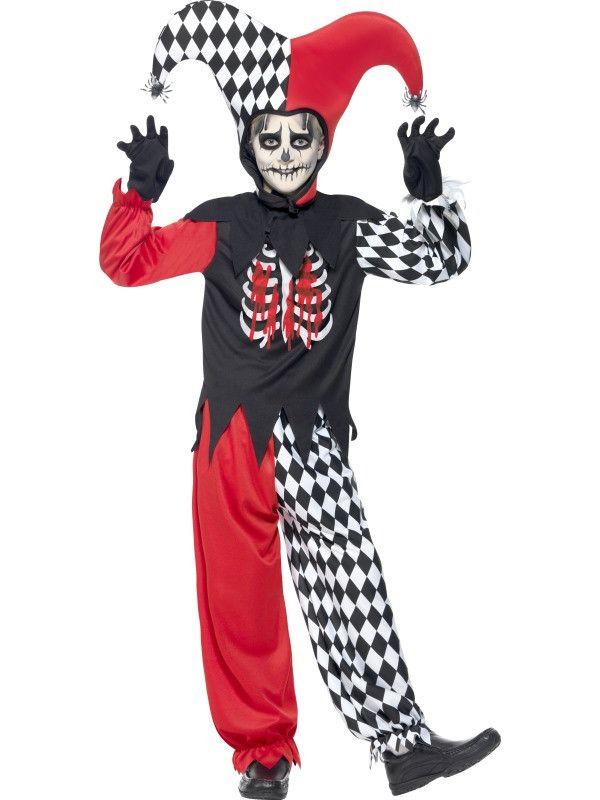 Bloederige Horror Nar Jongen Kostuum