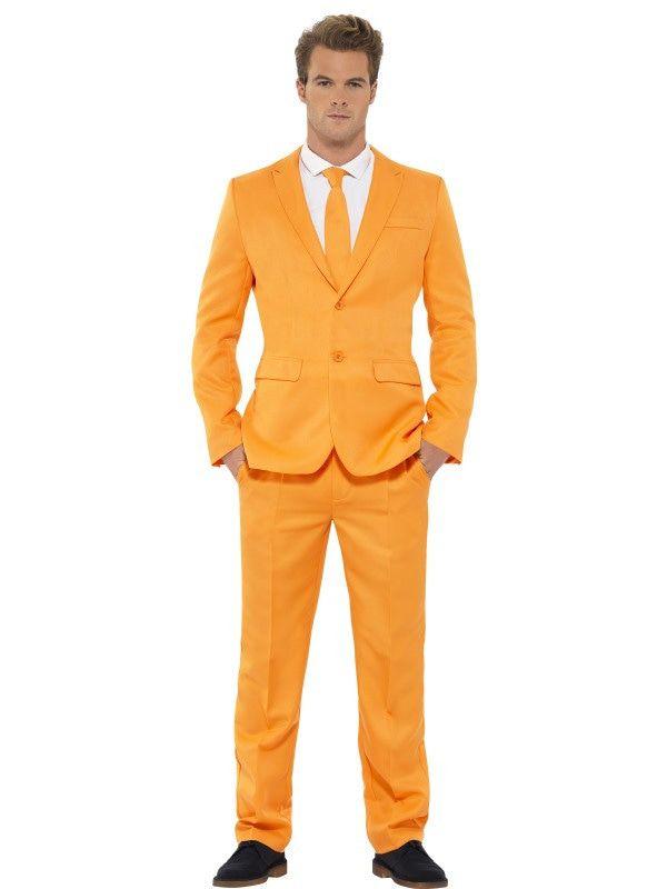 Extravagant Herenkostuum Keurig Pak Oranje Man