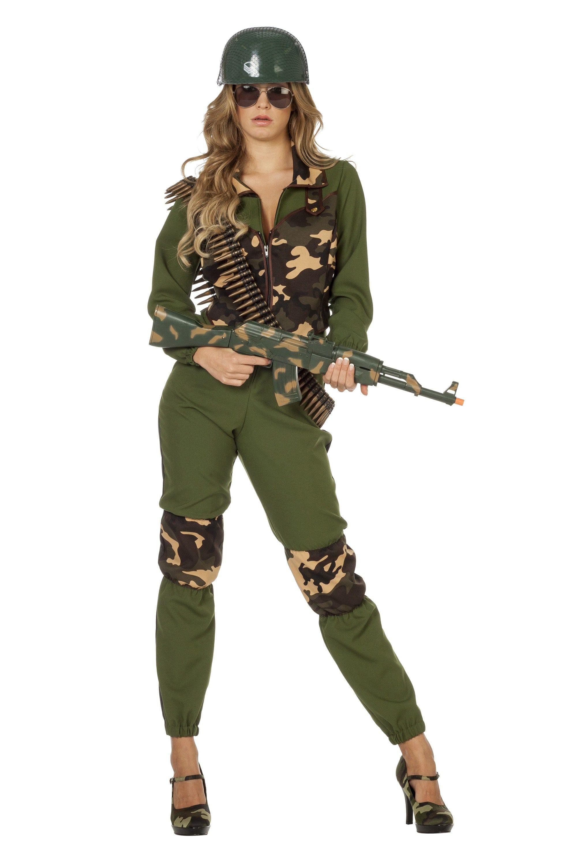 Hot Commando Dame Vrouw Kostuum