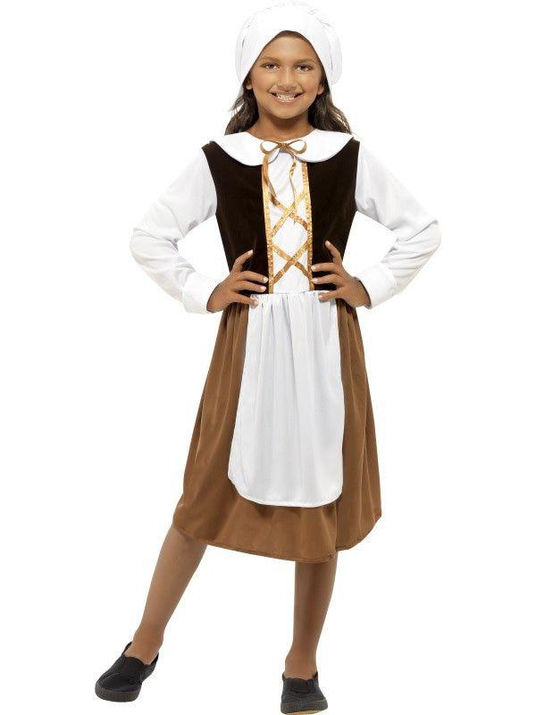 Engels Koningshuis Tudor Meisje Kostuum