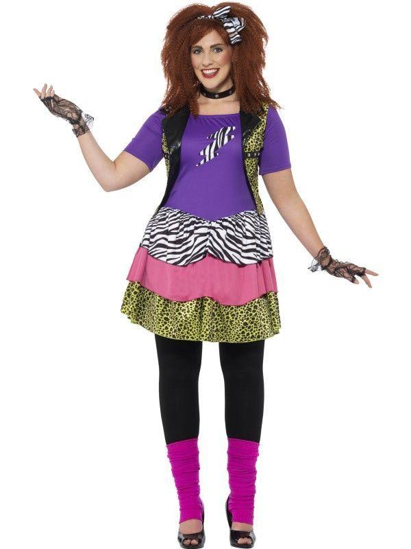 80s Rockchick Maatje Meer Vrouw Kostuum