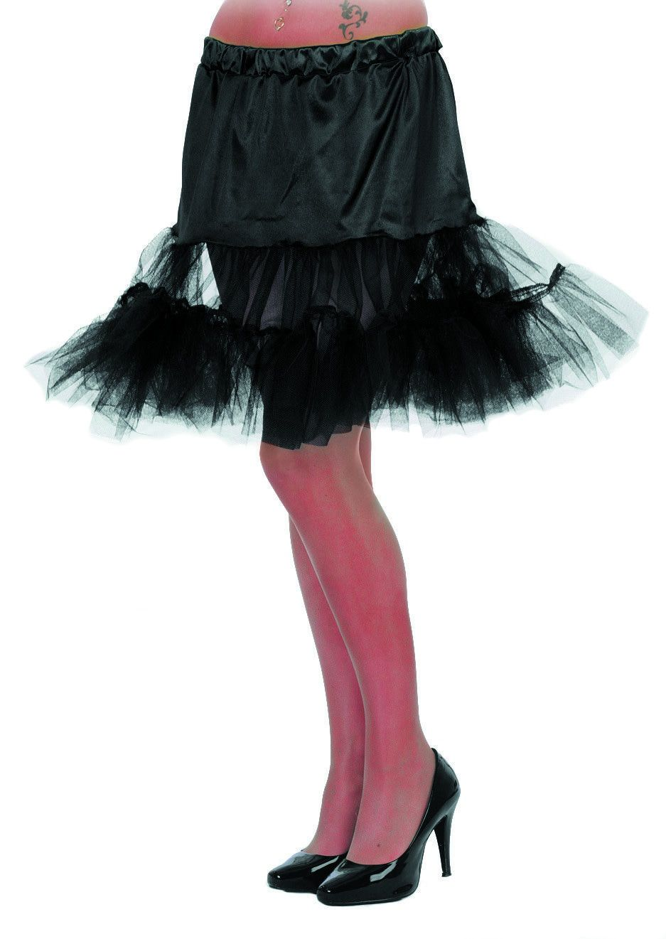 Zwarte Petticoat Zwart