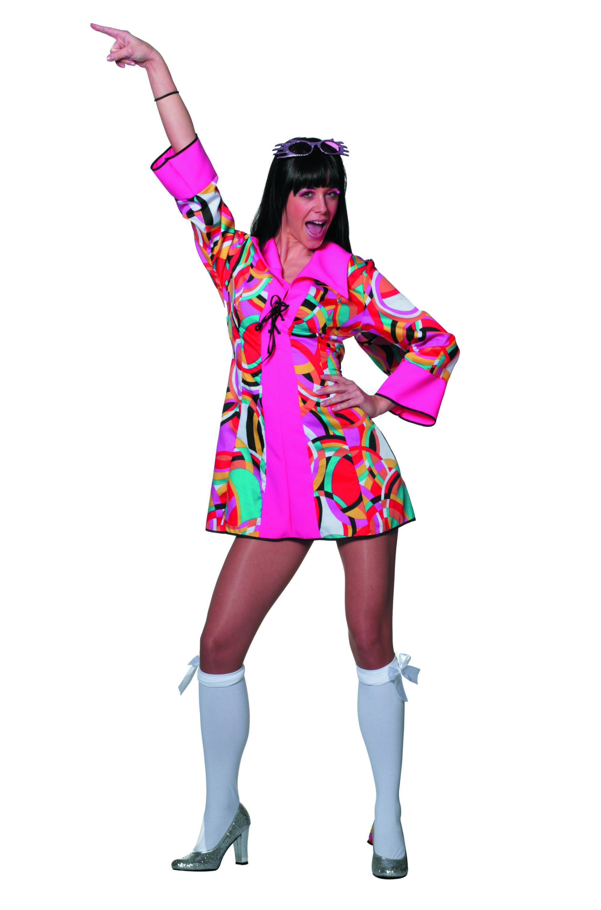 Dance Away Disco Popart Vrouw Kostuum