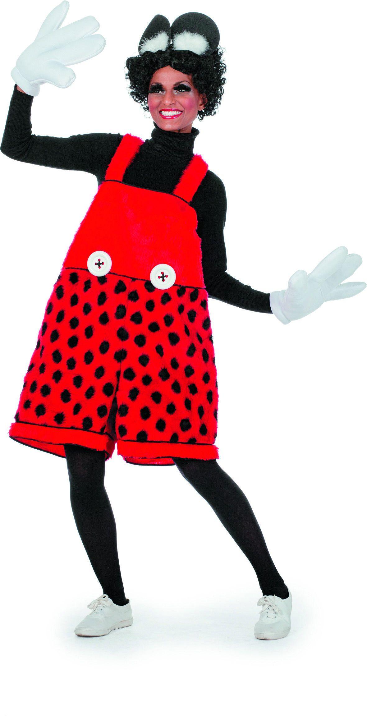 Geinige Latzhose Mac Mouse Vrouw Kostuum