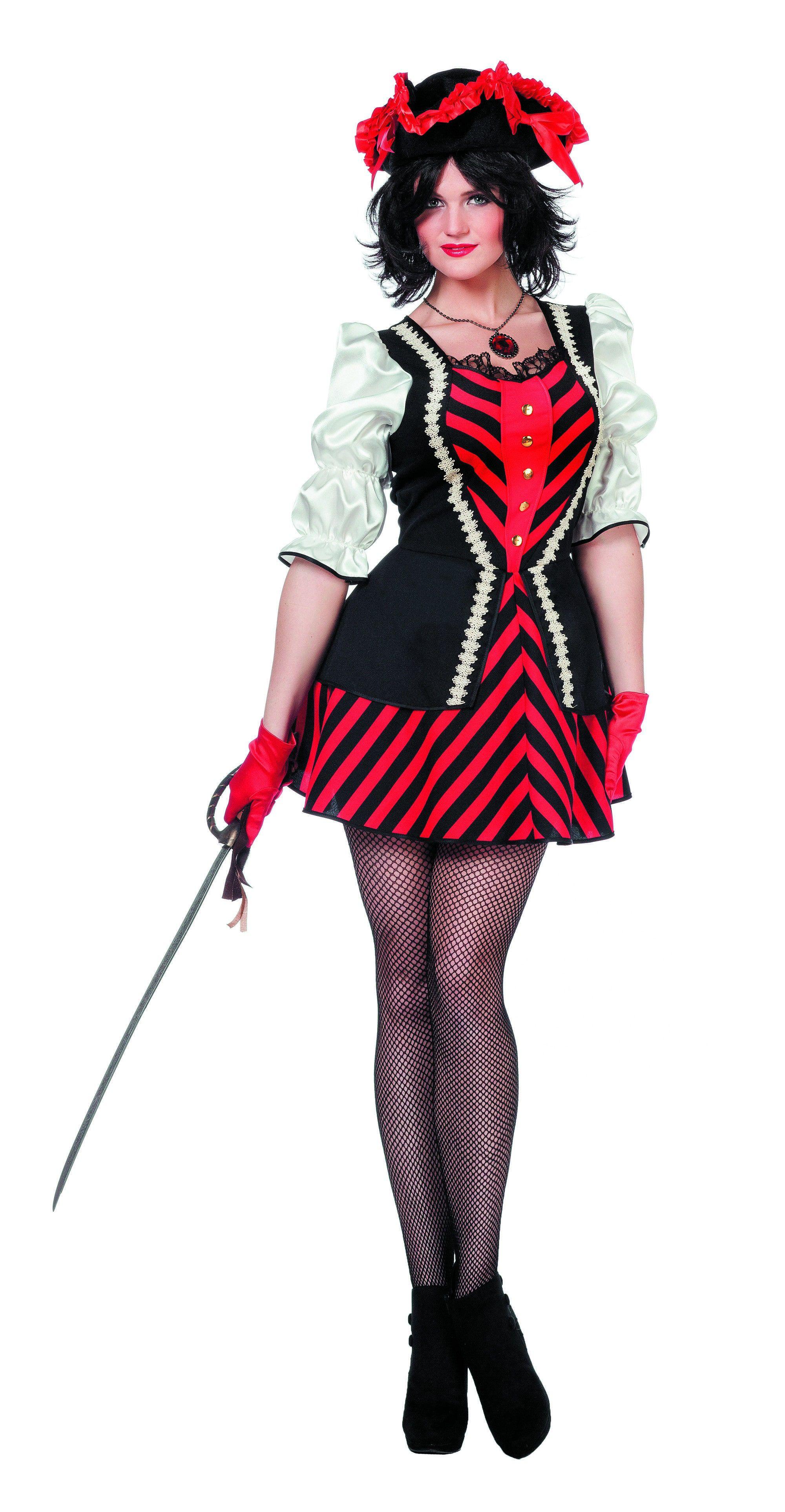 Fantasy Lady Piratendame Vrouw Kostuum