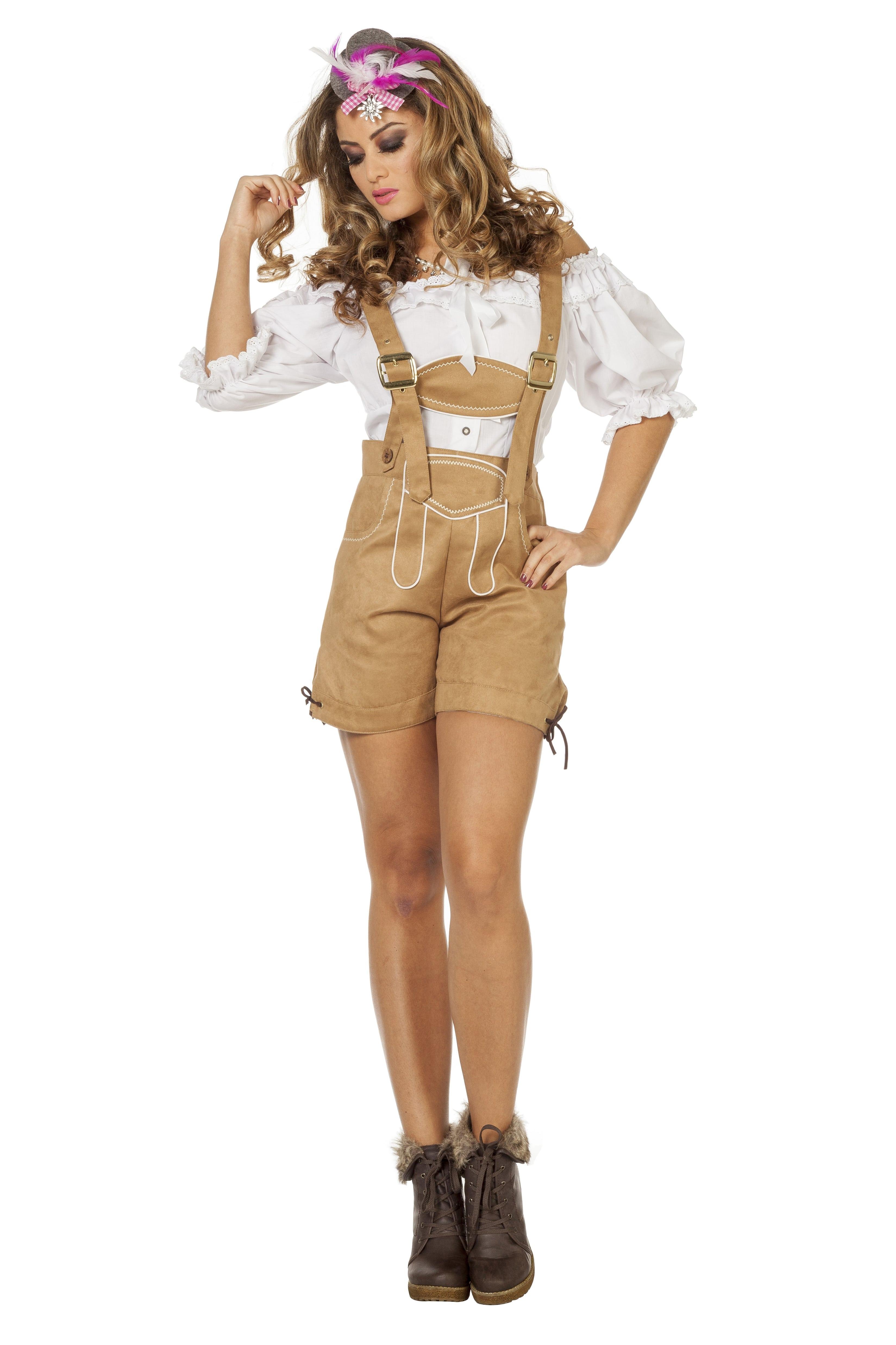 Oostenrijker Tirolerhose De Luxe Vrouw Kostuum