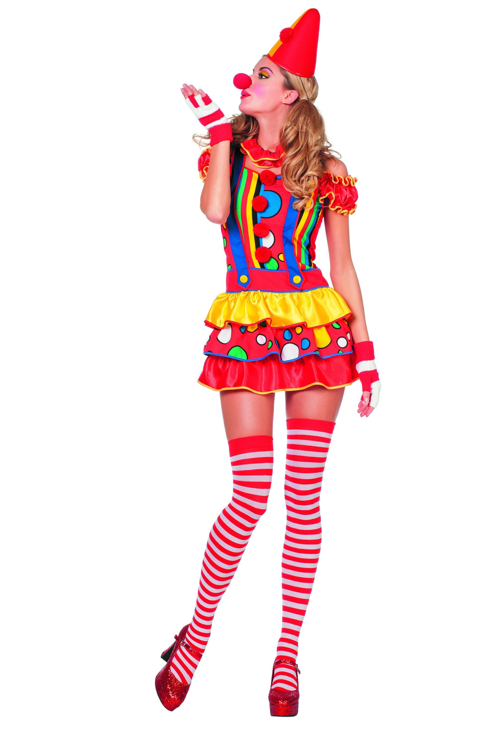 Funny And Sexy Clown Bubbles Vrouw Kostuum