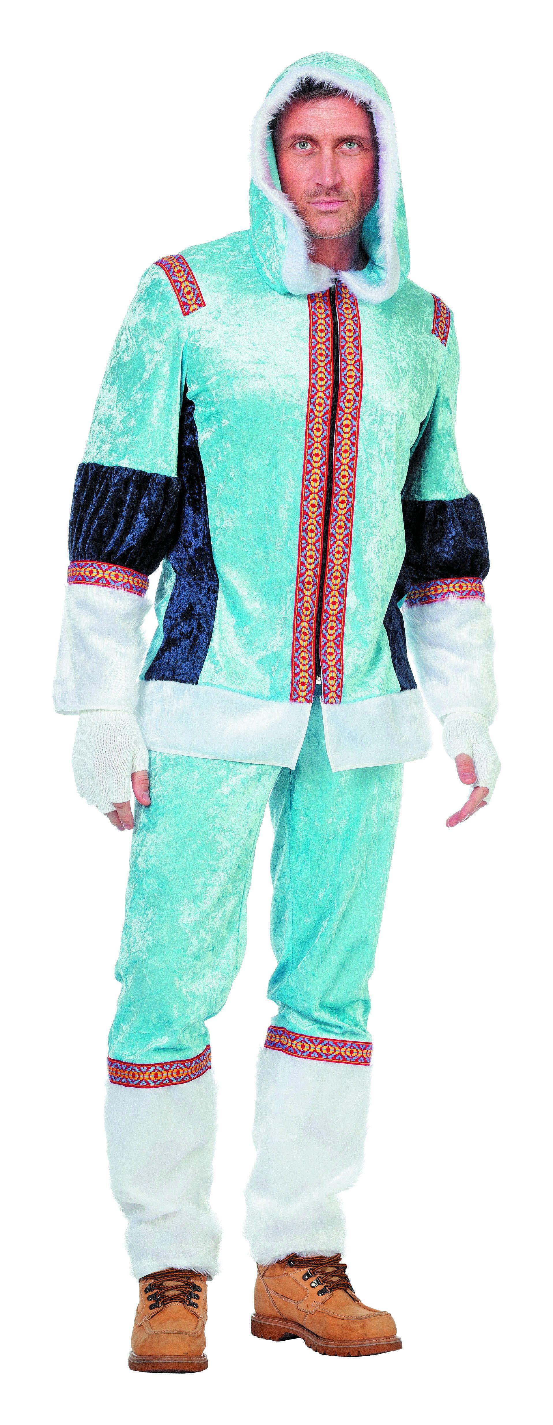 Polar Eskimo Blauw Man Kostuum