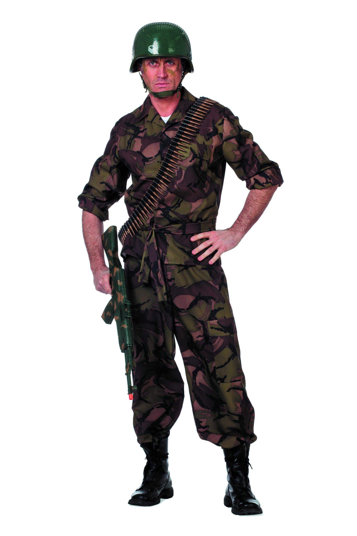 Battle Field Camouflage, Groen Man Kostuum