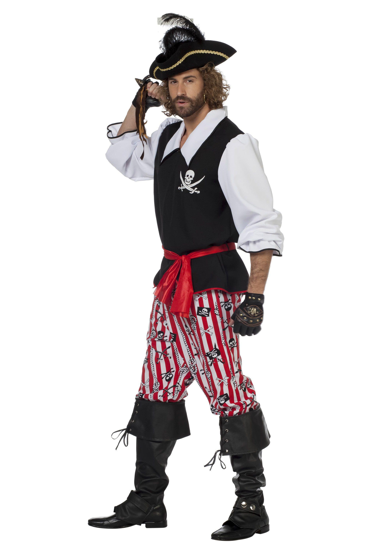 Bewaker Van Schateiland Piraat Man Kostuum