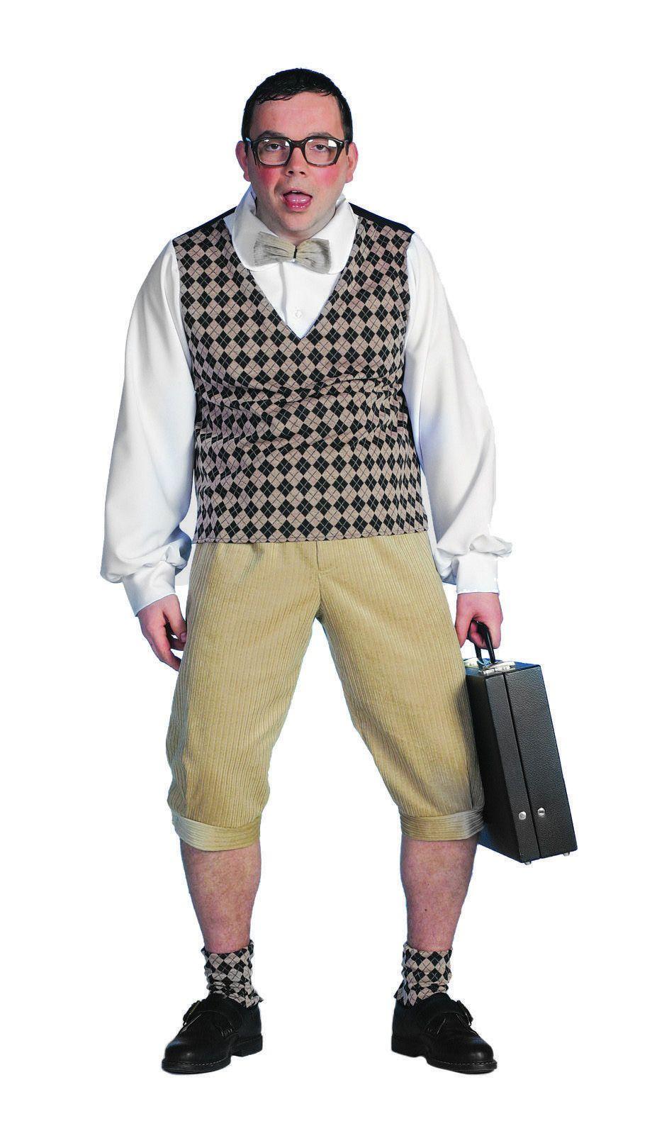 Hilarische Over-The-Top-Nerd Nerd Man Kostuum