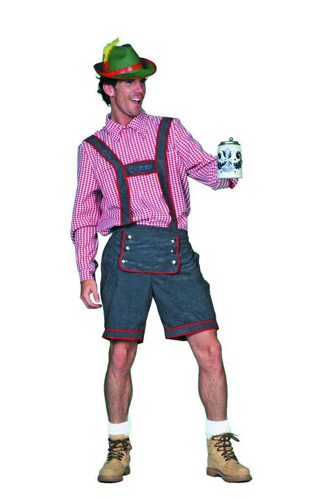 Eins-Zwei Tirolerbroek, Grijs Man Kostuum