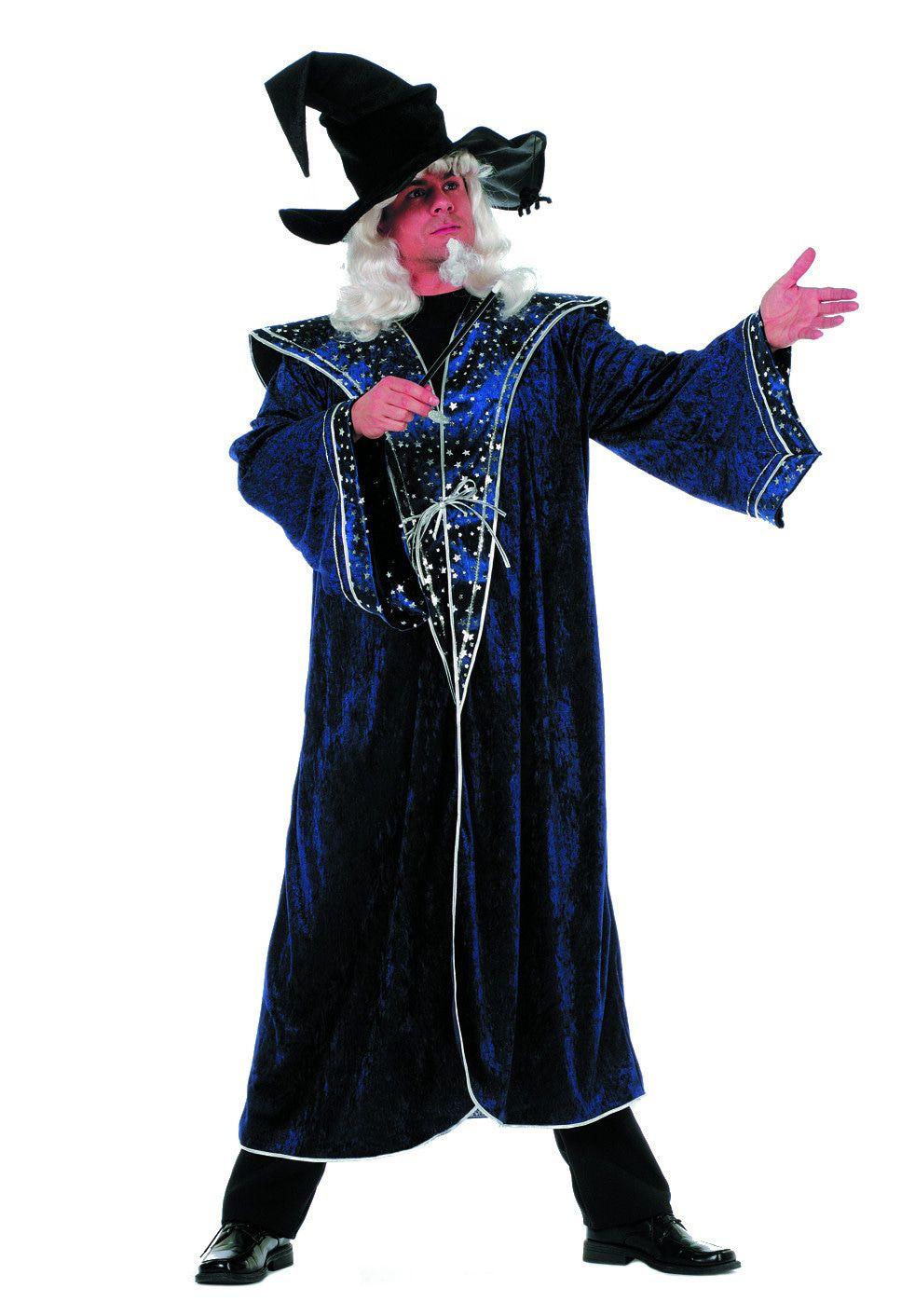 Harrys Tovenaarsmeester Sterren Blauw Man Kostuum