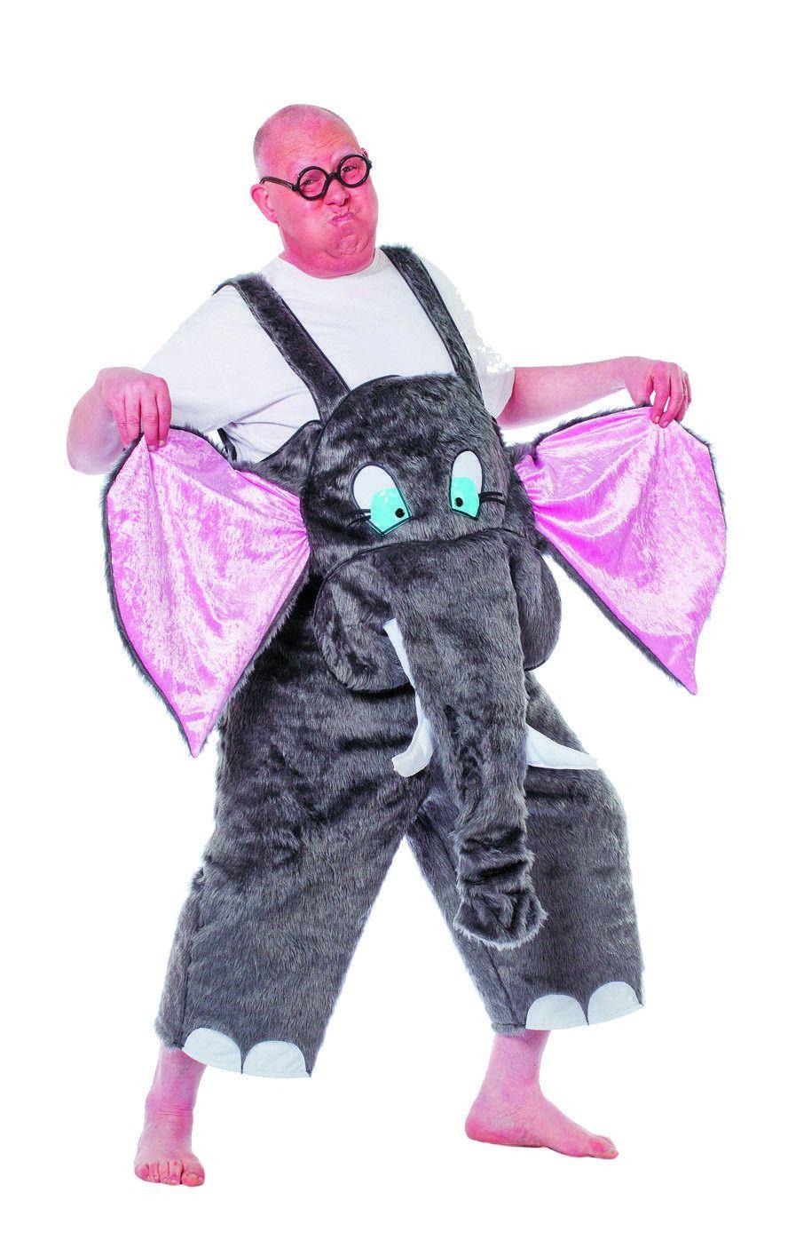 Beestachtig Grappige Latzhose Olifant Man Kostuum
