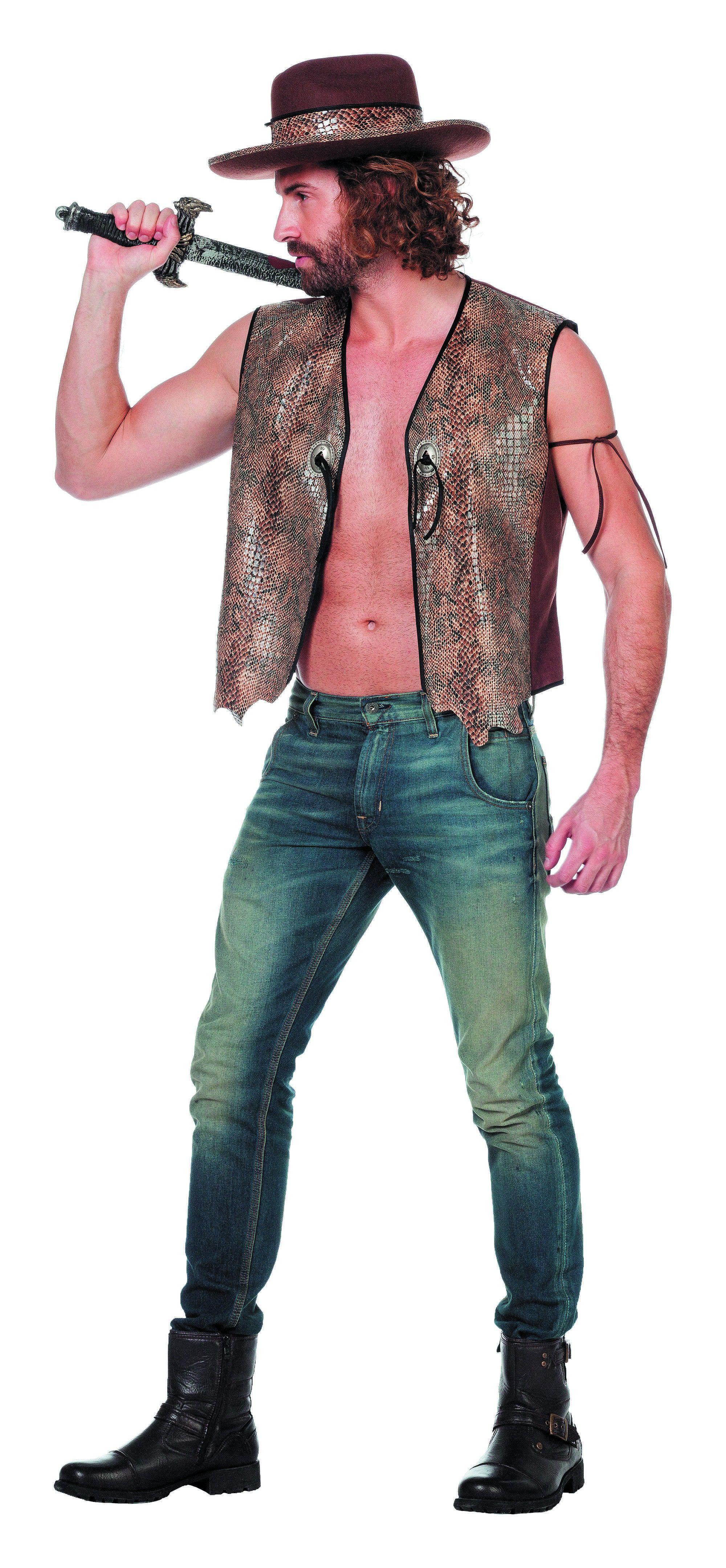 Australische Crocodile Dundee Man Kostuum
