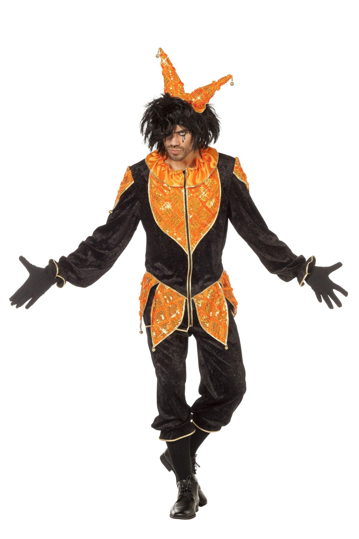 Oranje Luxe Joker Man Kostuum