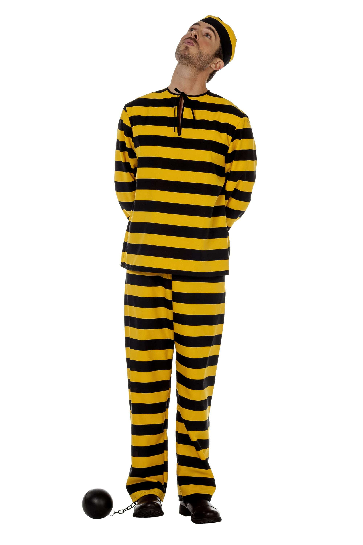 Geel-Zwart Gestreept Western Boef Dalton Man Kostuum
