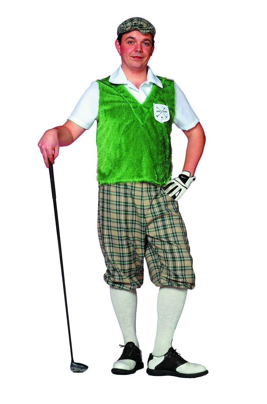 Kakkerige Golf Player Man Kostuum