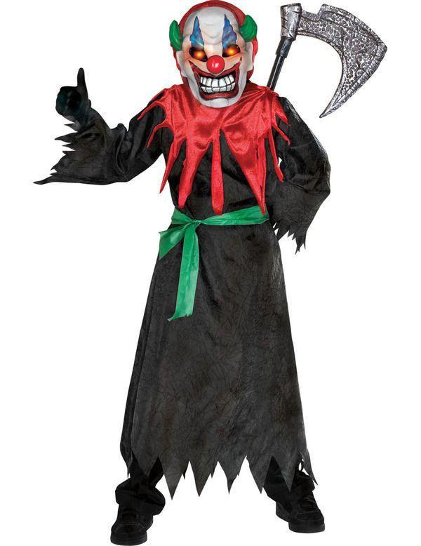 Gekke Clown Jongen Kostuum