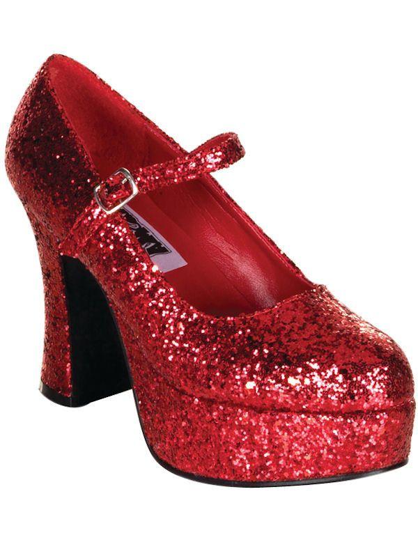 Glitter Schoenen Rood Vrouw